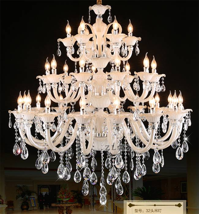 high quanlity  modern chandelier led crystal pendant lighting for hotel project indoor light