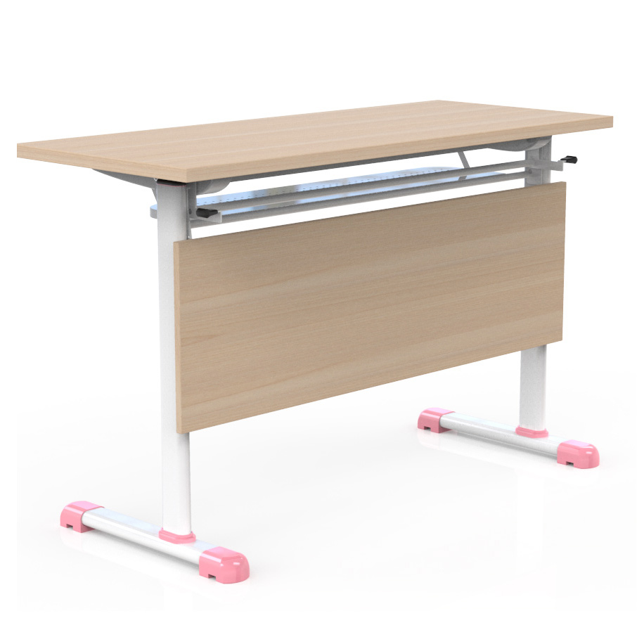 Good price office furniture folding table wood with wheel folding table with chair