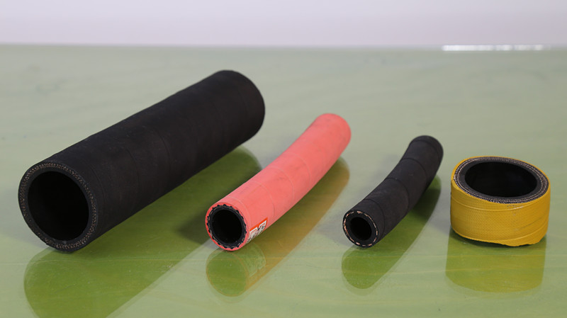 Colorful rubber oil and fuel hose
