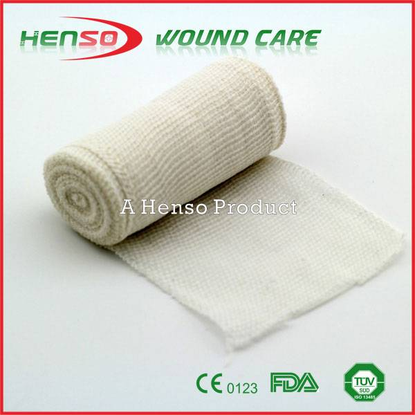 HENSO Hot Sale Elastic Bleached Thick PBT Bandage