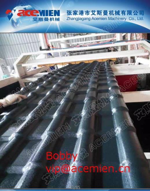 Glazed Tile Rolling Forming Line , Roof Panel Making Machine 880mm/1040mm