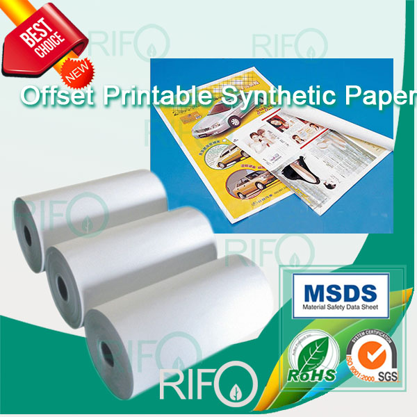 Rph-80 Printable PP Synthetic Paper for Offset Printing Posters