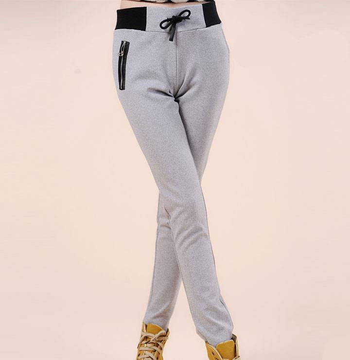 High Quality Thicken Cotton Ladies Sweat Pants