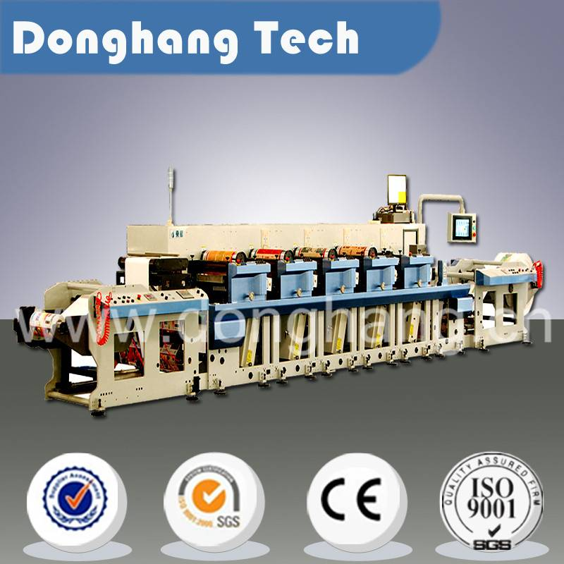 Automatic narrow web flexo printing machine