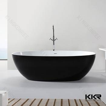 freestanding oval 1500 solid surface portable bathtub for adults