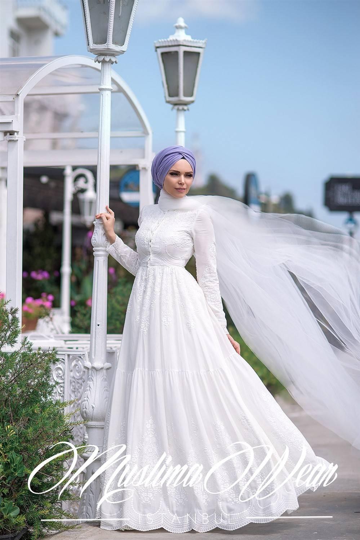 Muslima Wear Pure cotton White Dress