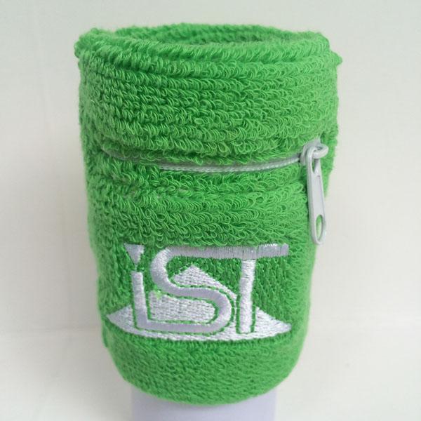 Custom logo sport zipper sweatband