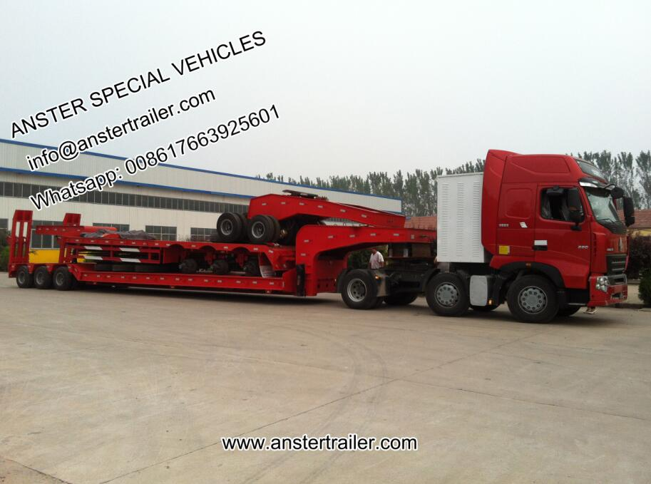 2/4/6 axle-lines 60/70/80 T/tons lowbed trailer for sale