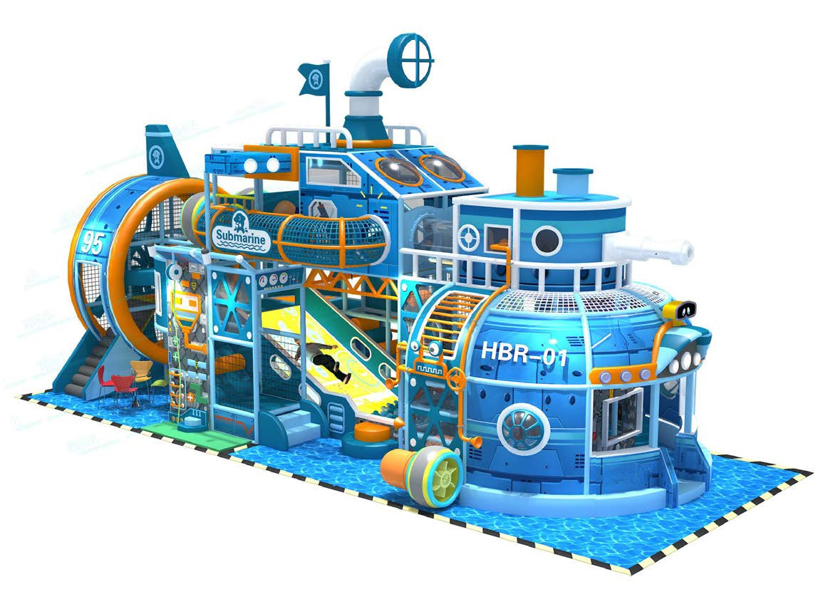 Customized Themed Submarine Indoor playground Soft Play Structure
