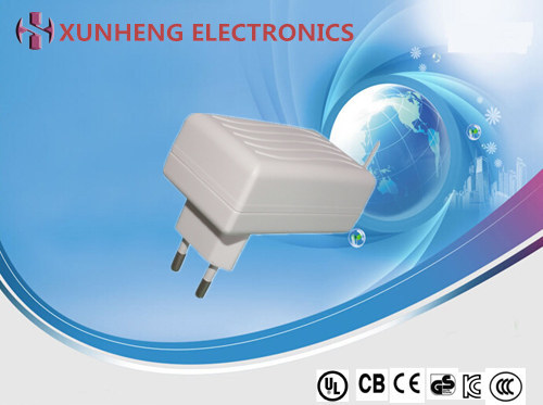 12W OEM/ODM customized design high performance wall-mounted adapter with 6 types of AC plug