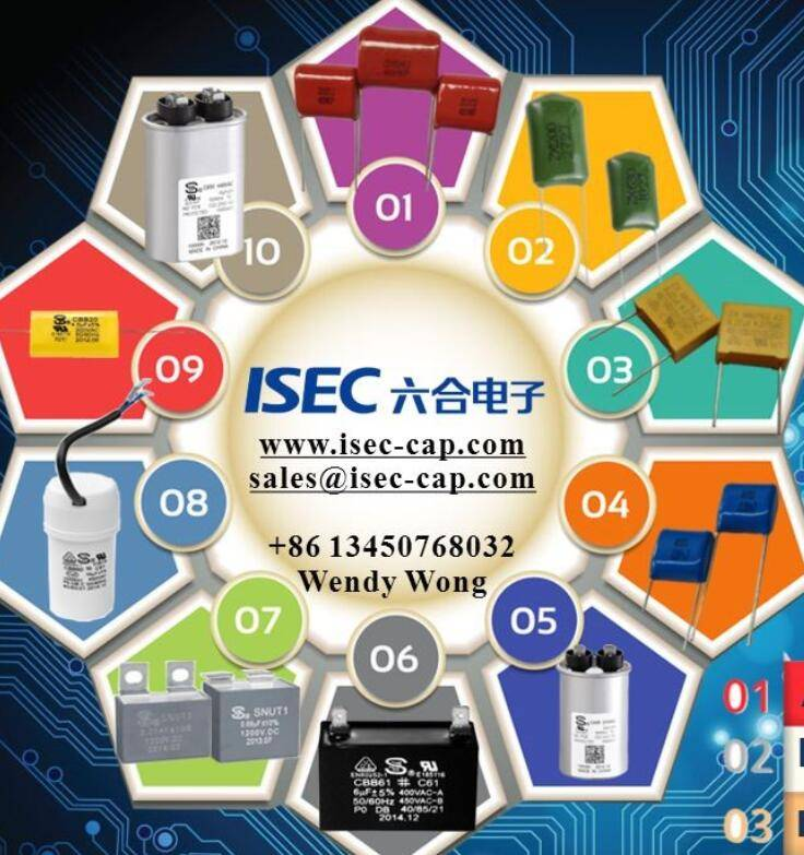 2016 Hot Sell High Votagle and General Purpose 225k 250v Polyester Film Capacitor