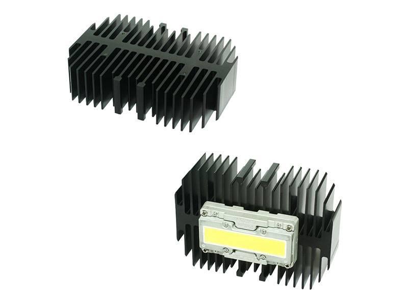 Xicato XLM passive LED Heat Sink 101mm(W) 140mm(H) 50mm(L) M3 black anodizing XLA-16-M3-B-N