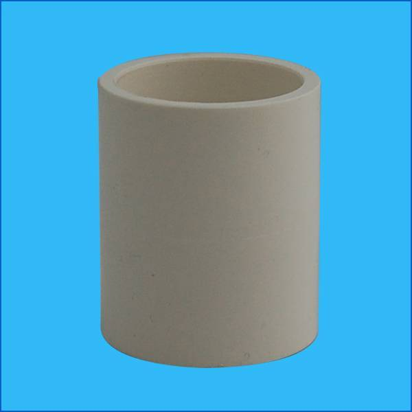 Plastic pipe fitting coupling