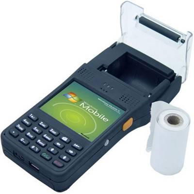 Camera HF LF RFID reader/thermal barcode receipt printer/portable handheld PDA/laser bluetooth barco