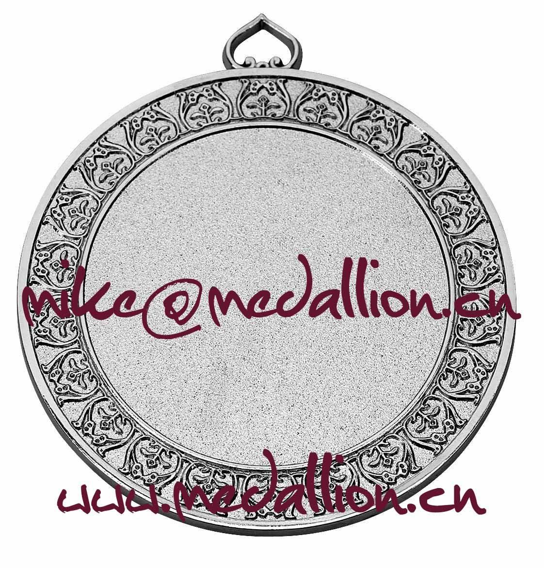 Sandblasting silver medal