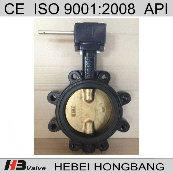 Cast iron worm gear butterfly valve dn200