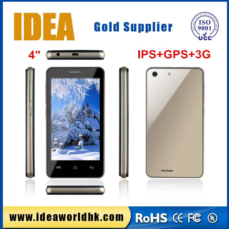 4 inch cheapest touch screen 3g cheap price small size mobile phone