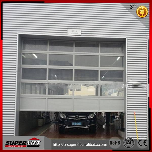 Stable Elegant Aluminum glass garage door, Insulated glass garage door