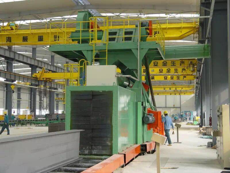 Dingtai roller conveyor through type H beam shot blasting machine