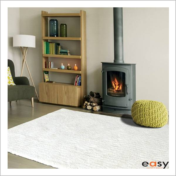 Cream microfiber polyester area floor rug for decoration