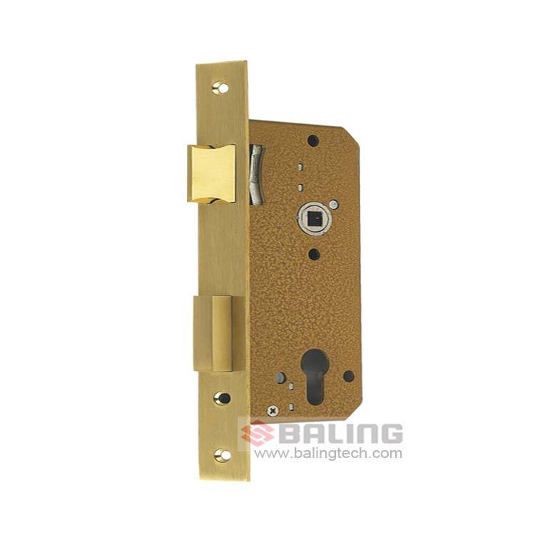 Fire Escape Euro Standard Lock Body Stainless Steel Mechanical Door Lock Case