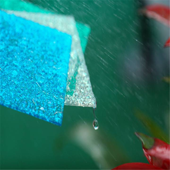 XINHAI colored cheap diamond embossed polycarbonate sheet