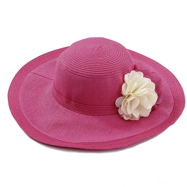 Red Straw Hat Summer Sun Paper Hat For Women