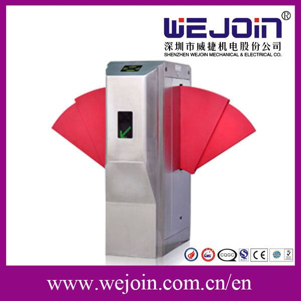 Flap Barrier Gate With Widen Flap and Safe Internal Construction Design For Access Control System
