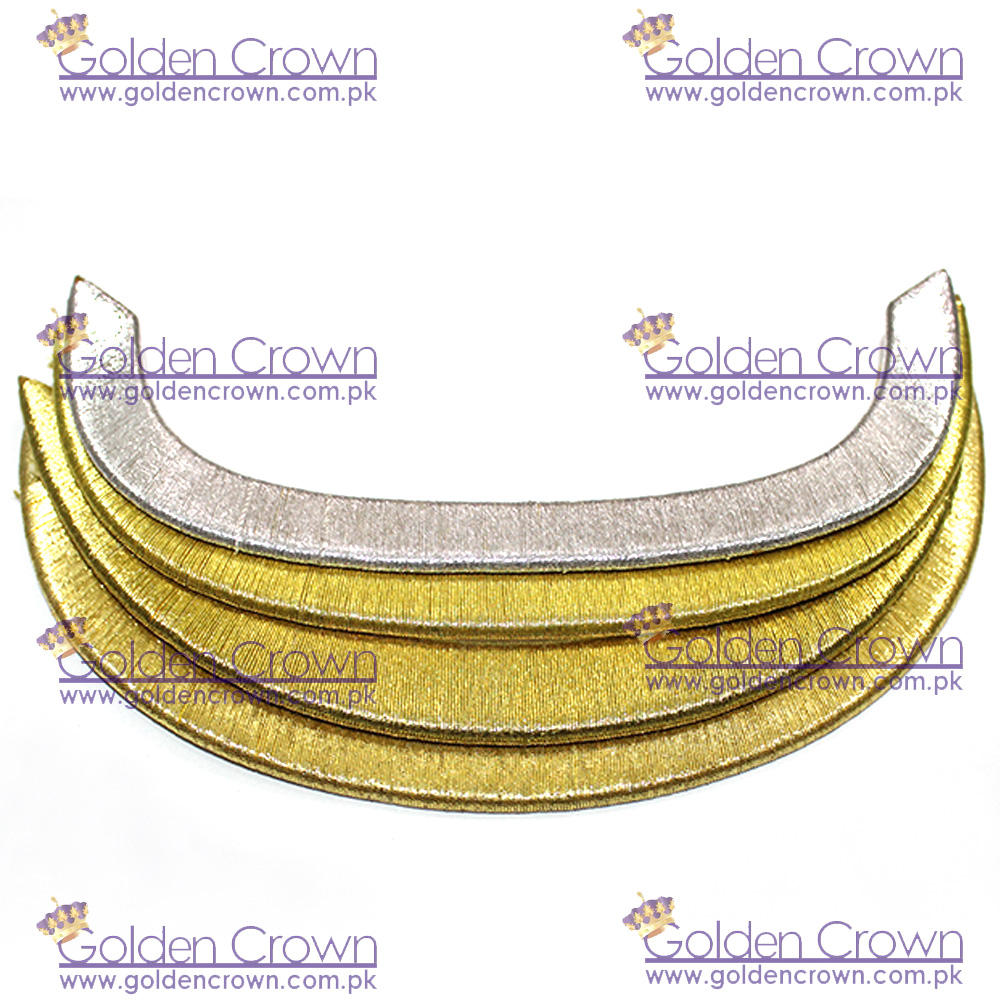 Hand Embroidery Visors Solid Gold And Silver Forage Peak