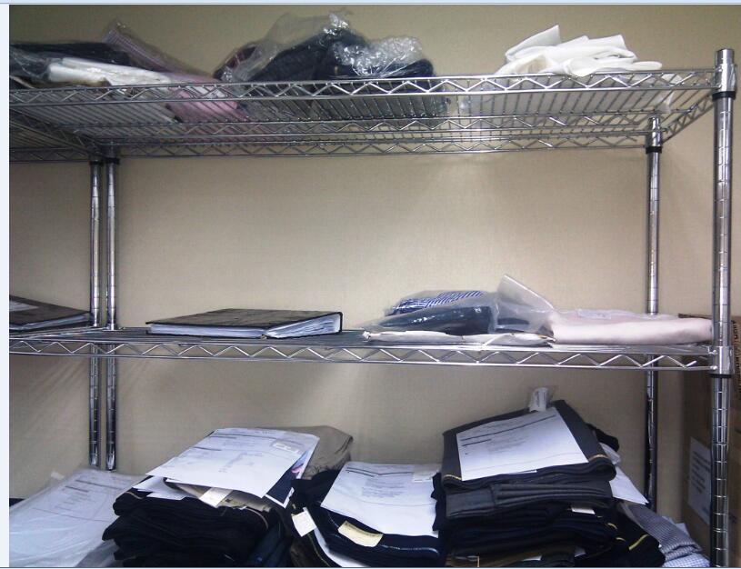Commercial 6 Tier Shelf Adjustable Steel Wire Metal Shelving Rack