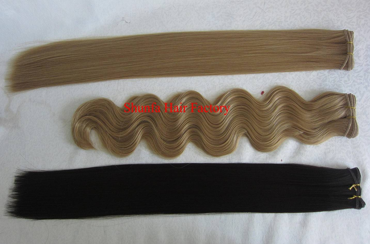 Kinky Straight Chinese Human hair extension/hair wefts/hair weaving