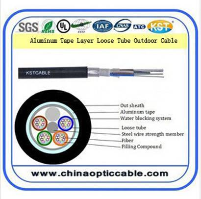 Aluminum tape Layer Loose Tube Outdoor Cable