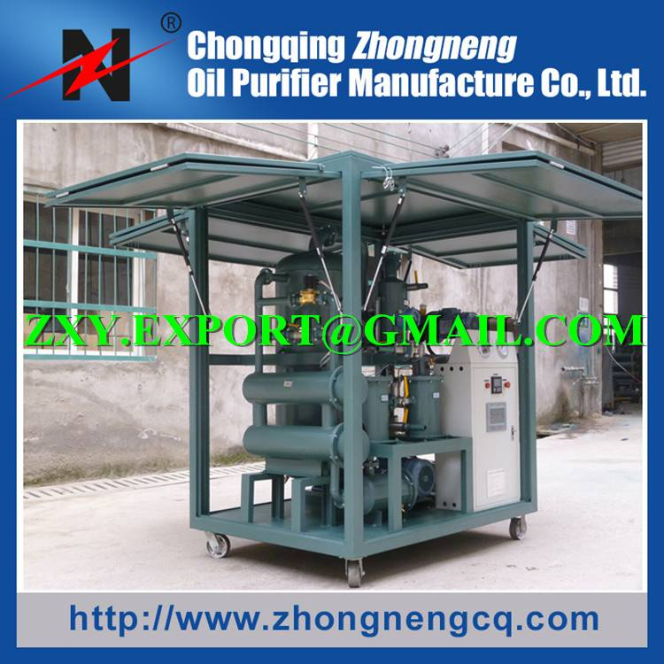 2016 Latest Design High Vacuum Degree Transformer Oil Dehydration Plant, Dielectric Oil Purification