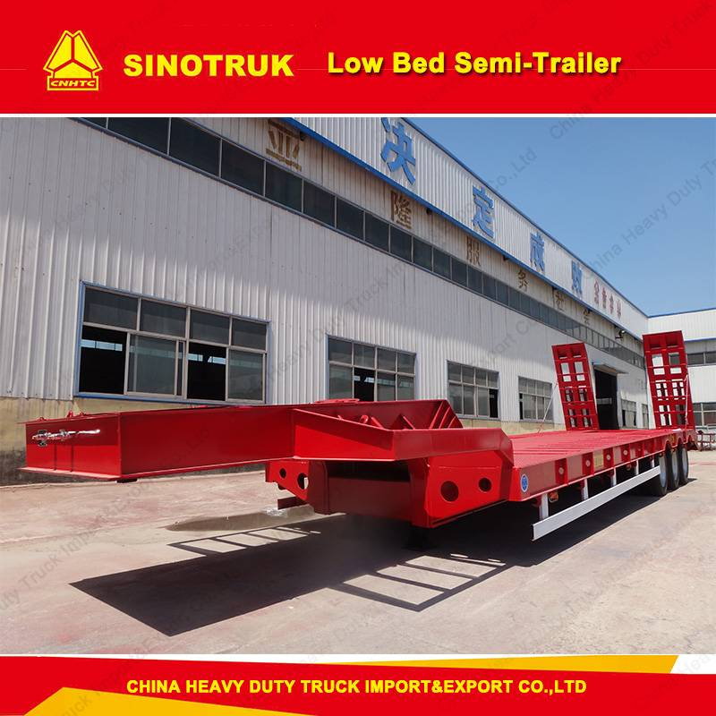 50ton Low Bed Trailer/Semi Truck Trailers for Sale