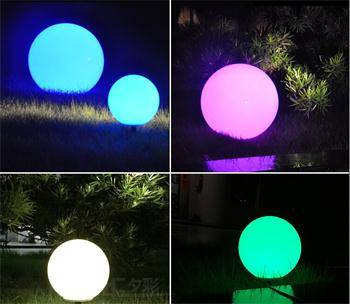 outdoor garden decoration balls with led lights