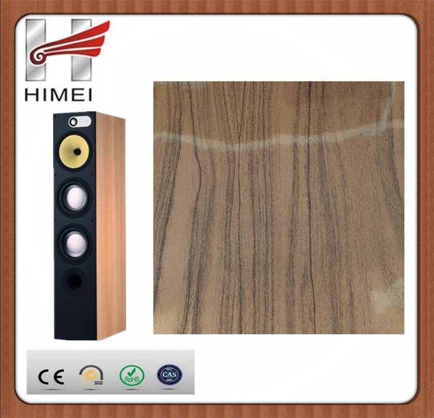 Wood grain laminated sheet for stereo