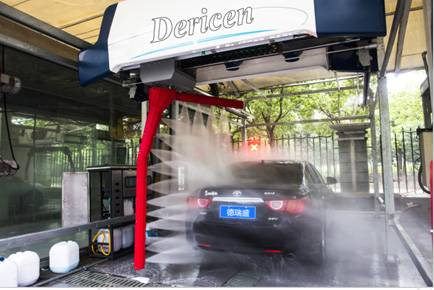 China Automatic Touchless Car Wash Machine