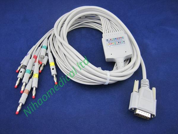 EKG226IOD Nihon Kohden ecg cable