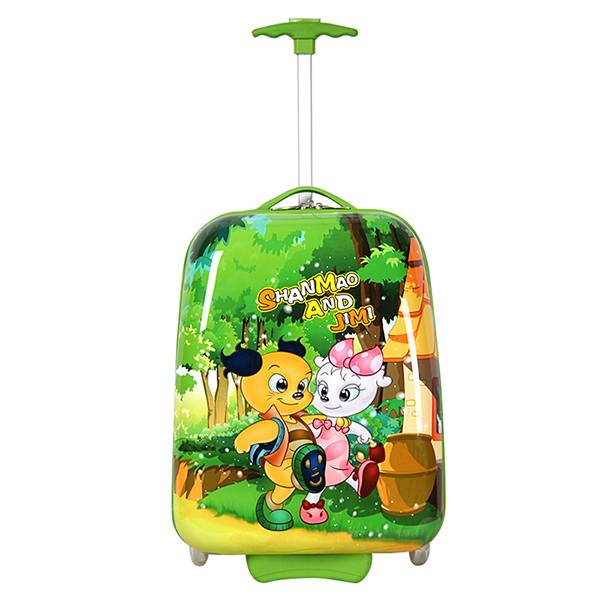 Green SMJM Square Shape Childrens Hand Luggage,Light Luggage On Sale