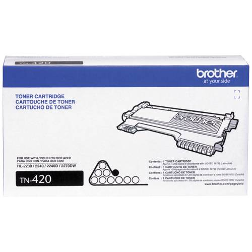 Original and New Brother Black Toner cartridge Brother TN420)