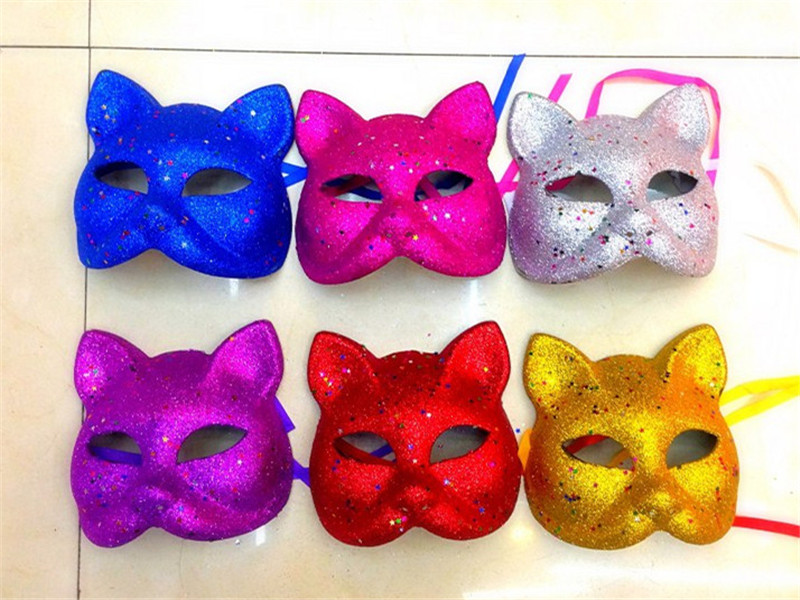 The Glittering Halloween Costume The Cosplay Animal Cat Face Masks