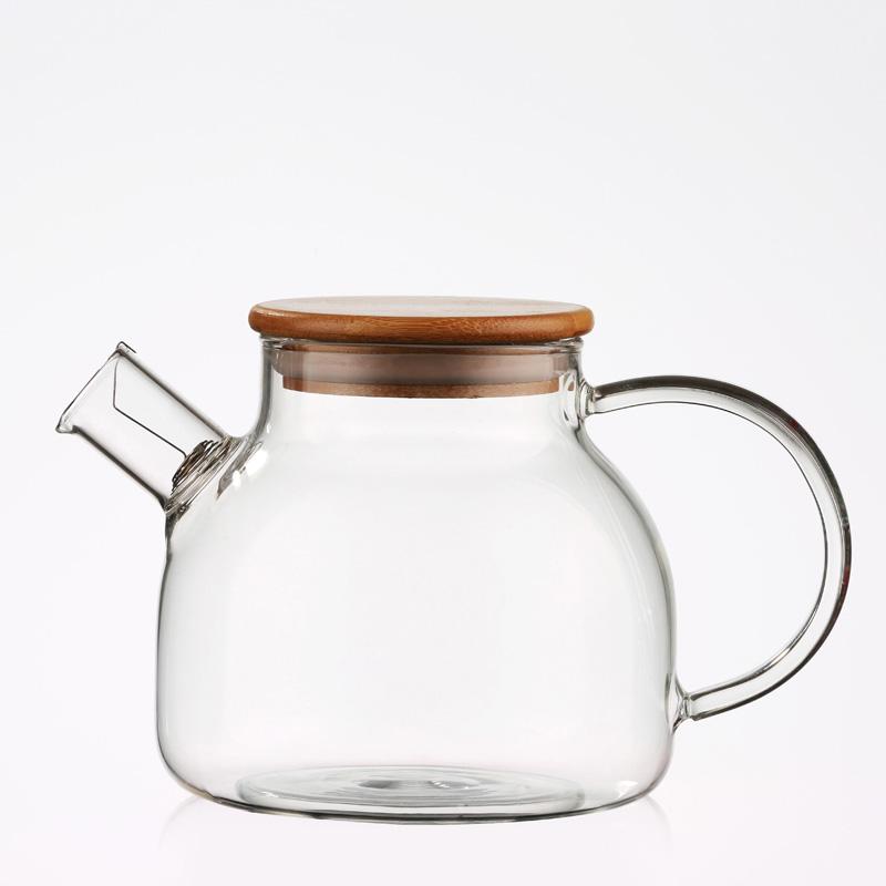 Heat-resistant glass tea set