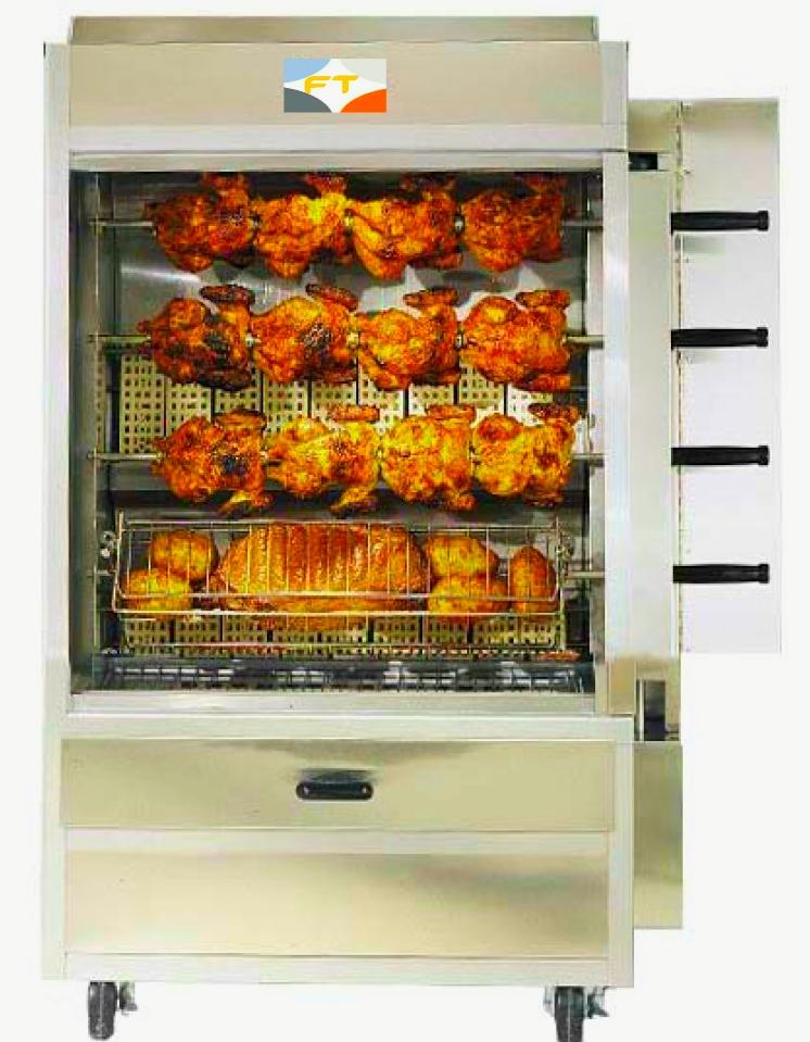Electric Rotisserie Chicken Oven