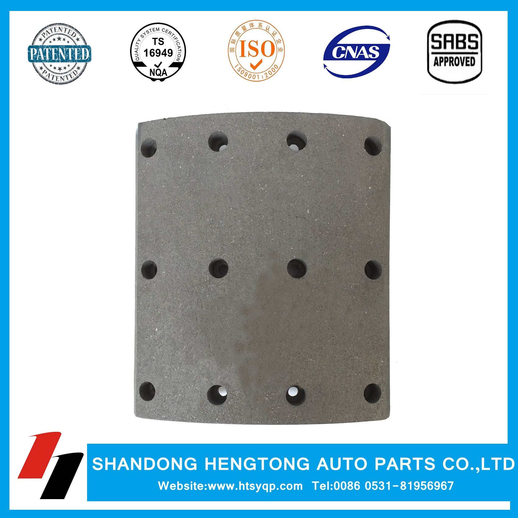 Brake lining WVA19939 for VOLVO Brake Sytem