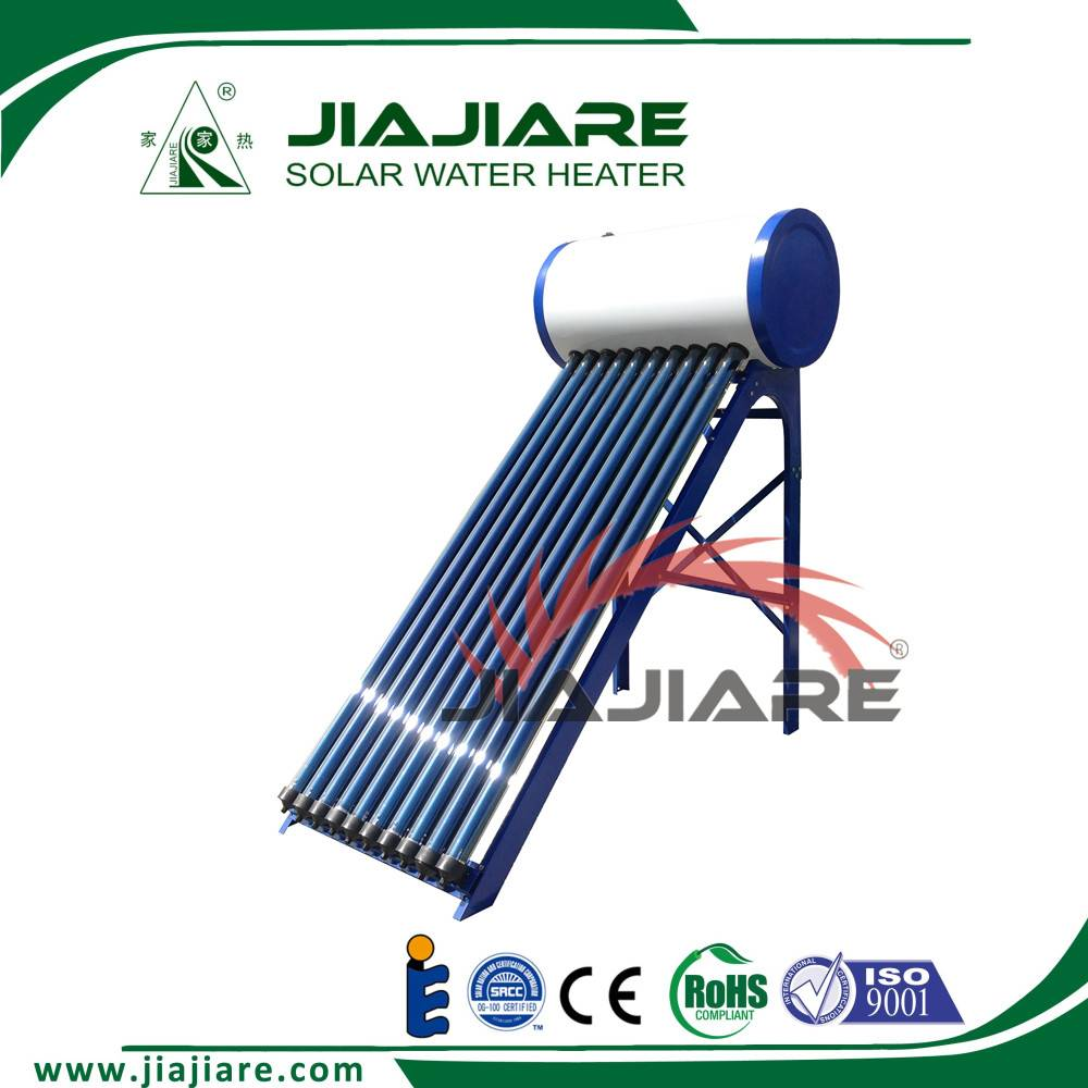 High quality pressurized heat pipe solar water heater
