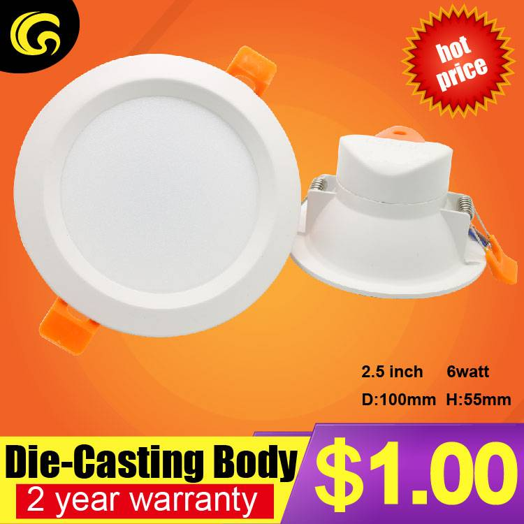 1 ued per set 2.5 inch led ceiling downlight