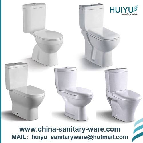 Floor Mounted Two Piece Ceramic Toilet