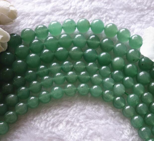 Natural Green Aventurine Round Bead Loose Spacer Beads