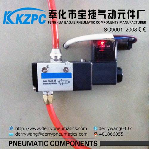 :control valve solenoid valve china 2 position 3way 3V210-06,08 port size 1/8,1/4