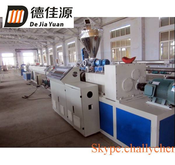 Plastic PVC water pipe extrusion production line